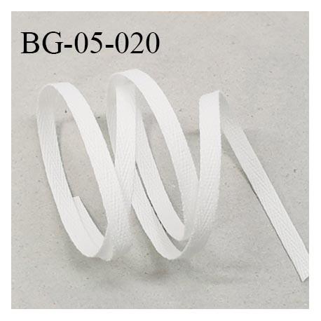 Biais sergé 5 mm couleur blanc plus rigide que le BG-05-001 et BG-05-008 fabriqué en France prix au mètre
