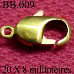 FERMOIR DE BERE  20 millimètres par 0,8 millimètres POUR REPARER OU CREER VOS BIJOUX