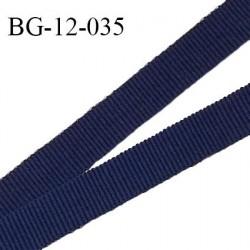 Biais galon ruban 12 mm gros grain très résistant couleur bleu marine largeur 12 mm prix au mètre