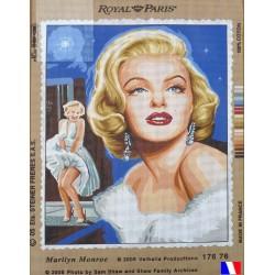 Canevas 45x60 marque ROYAL PARIS marilyne monroe dimension 45 centimètres par 60 centimètres 100 % coton
