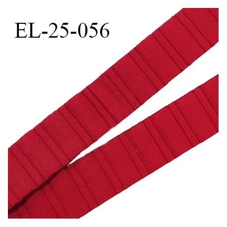 Elastique 24 mm bretelle et lingerie haut de gamme couleur rouge baiser largeur 24 mm fabriqué en France prix au mètre