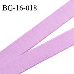 Devant bretelle 16 mm en polyamide attache bretelle rigide pour anneaux couleur parme haut de gamme prix au mètre