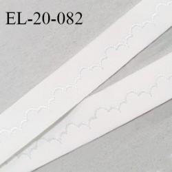 Elastique 19 mm bretelle et lingerie haut de gamme couleur naturel avec motifs largeur 19 mm fabriqué en France prix au mètre
