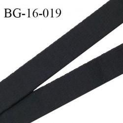 Devant bretelle 16 mm en polyamide attache bretelle rigide pour anneaux couleur noir haut de gamme prix au mètre