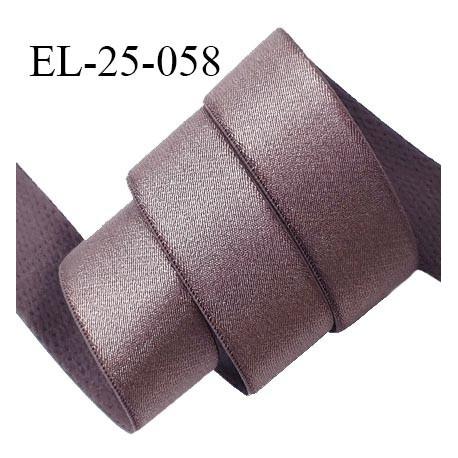 Elastique 24 mm bretelle et lingerie couleur bois de rose brillant fabriqué en France pour une grande marque prix au mètre
