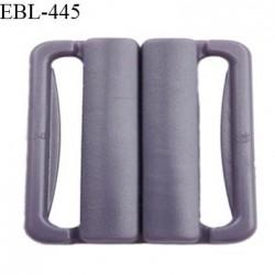 Boucle clip 16 mm attache réglette pvc spécial maillot de bain couleur prune parme clair haut de gamme prix à l'unité