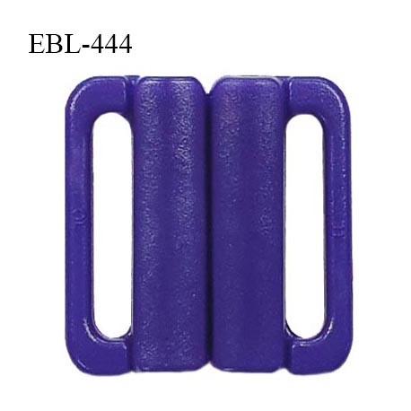Boucle clip 25 mm attache réglette pvc spécial maillot de bain couleur bleuet prix à l'unité