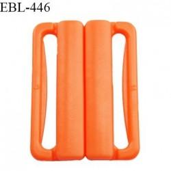 Boucle clip 25 mm attache réglette pvc spécial maillot de bain couleur orange prix à l'unité