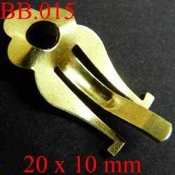pièce en métal doré  20 x 10 mm pour boucle d'oreille  POUR REPARER OU CREER VOS BIJOUX BICHE DE BERE