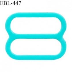 Réglette 16 mm de réglage de bretelle pour soutien gorge et maillot de bain en pvc couleur bleu vert prix à l'unité