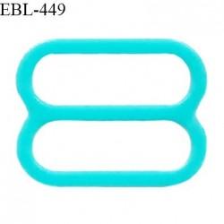 Réglette 18 mm de réglage de bretelle pour soutien gorge et maillot de bain en pvc couleur bleu vert prix à l'unité