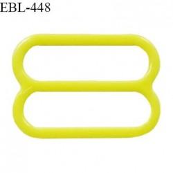 Réglette 16 mm de réglage de bretelle pour soutien gorge et maillot de bain en pvc couleur jaune citron prix à l'unité