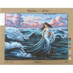 """Canevas à broder 50 x 60 cm marque MAINS D'OR thème """"aphrodite sortant des eaux"""""""