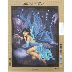 """Canevas à broder 50 x 60 cm marque MAINS D'OR thème """"la fée"""""""