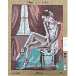 """Canevas à broder 50 x 60 cm marque MAINS D'OR thème """"la danseuse"""""""