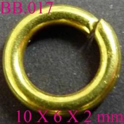 anneau en métal doré PIECES BICHE DE BERE 10 x 6 x 2 mmmm POUR REPARER OU CREER VOS BIJOUX BICHE DE BERE