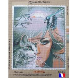 Canevas à broder 45 x 65 cm marque ROYAL PARIS thème allégorie par GENOT made in France