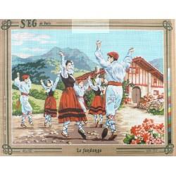 Canevas à broder 45 x 60 cm marque SEG DE PARIS thème le fandango