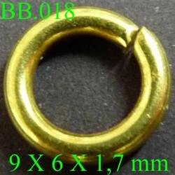 anneau en métal doré PIECES BICHE DE BERE 9 x7 x 1,6 mm POUR REPARER OU CREER VOS BIJOUX BICHE DE BERE