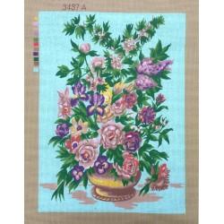 Canevas à broder 50 x 60 cm  thème LE BOUQUET