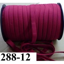 élastique plat largeur 12 mm couleur grenadine vendu au mètre