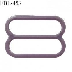 Réglette 16 mm de réglage de bretelle pour soutien gorge et maillot de bain en pvc couleur prune parme prix à l'unité