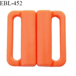 Boucle clip 16 mm attache réglette pvc spécial maillot de bain couleur orange haut de gamme prix à l'unité