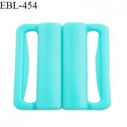 Boucle clip 16 mm attache réglette pvc spécial maillot de bain couleur bleu vert haut de gamme prix à l'unité