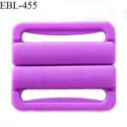 Boucle clip 30 mm attache réglette pvc spécial maillot de bain couleur violet haut de gamme prix à l'unité
