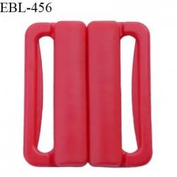 Boucle clip 30 mm attache réglette pvc spécial maillot de bain couleur rouge haut de gamme prix à l'unité