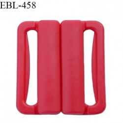 Boucle clip 20 mm attache réglette pvc spécial maillot de bain couleur rouge haut de gamme prix à l'unité