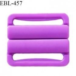 Boucle clip 20 mm attache réglette pvc spécial maillot de bain couleur violet haut de gamme prix à l'unité