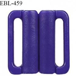 Boucle clip 20 mm attache réglette pvc spécial maillot de bain couleur bleuet haut de gamme prix à l'unité