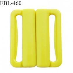 Boucle clip 30 mm attache réglette pvc spécial maillot de bain couleur jaune vert anis haut de gamme prix à l'unité