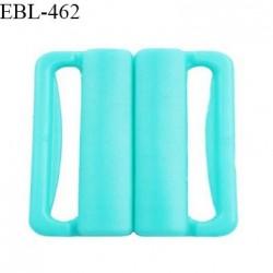 Boucle clip 20 mm attache réglette pvc spécial maillot de bain couleur bleu vert haut de gamme prix à l'unité