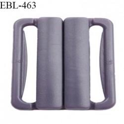 Boucle clip 20 mm attache réglette pvc spécial maillot de bain couleur prune parme haut de gamme prix à l'unité