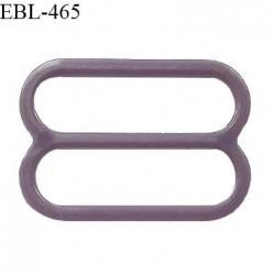 Réglette 15 mm de réglage de bretelle pour soutien gorge et maillot de bain en pvc couleur prune parme prix à l'unité