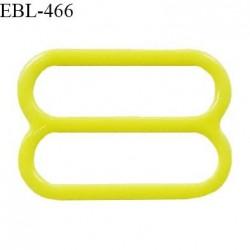 Réglette 15 mm de réglage de bretelle pour soutien gorge et maillot de bain en pvc couleur jaune vert anis prix à l'unité