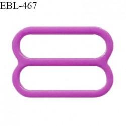 Réglette 18 mm de réglage de bretelle pour soutien gorge et maillot de bain en pvc couleur violet prix à l'unité