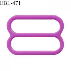 Réglette 14 mm de réglage de bretelle pour soutien gorge et maillot de bain en pvc couleur violet prix à l'unité