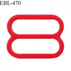 Réglette 14 mm de réglage de bretelle pour soutien gorge et maillot de bain en pvc couleur rouge prix à l'unité