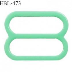 Réglette 16 mm de réglage de bretelle pour soutien gorge et maillot de bain en pvc couleur vert prix à l'unité