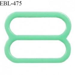 Réglette 14 mm de réglage de bretelle pour soutien gorge et maillot de bain en pvc couleur vert prix à l'unité