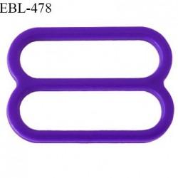 Réglette 16 mm de réglage de bretelle pour soutien gorge et maillot de bain en pvc couleur violet iris prix à l'unité