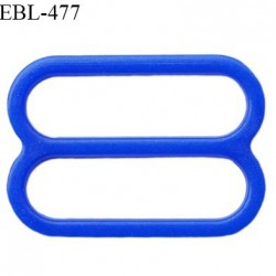 Réglette 16 mm de réglage de bretelle pour soutien gorge et maillot de bain en pvc couleur bleu prix à l'unité