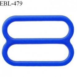 Réglette 14 mm de réglage de bretelle pour soutien gorge et maillot de bain en pvc couleur bleu prix à l'unité