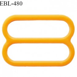 Réglette 16 mm de réglage de bretelle pour soutien gorge et maillot de bain en pvc couleur orange prix à l'unité