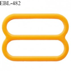 Réglette 14 mm de réglage de bretelle pour soutien gorge et maillot de bain en pvc couleur orange prix à l'unité