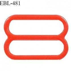 Réglette 14 mm de réglage de bretelle pour soutien gorge et maillot de bain en pvc couleur coquelicot prix à l'unité