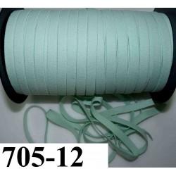 élastique plat largeur 12 mm couleur vert d'eau vendu au mètre